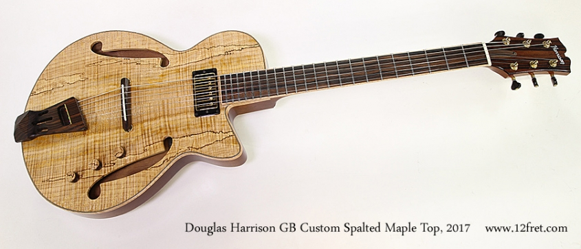 Douglas Harrison GB Custom Spalted Maple Top, 2017 Full Front View