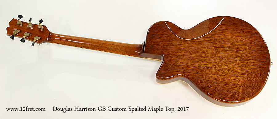 Douglas Harrison GB Custom Spalted Maple Top, 2017 Full Rear View