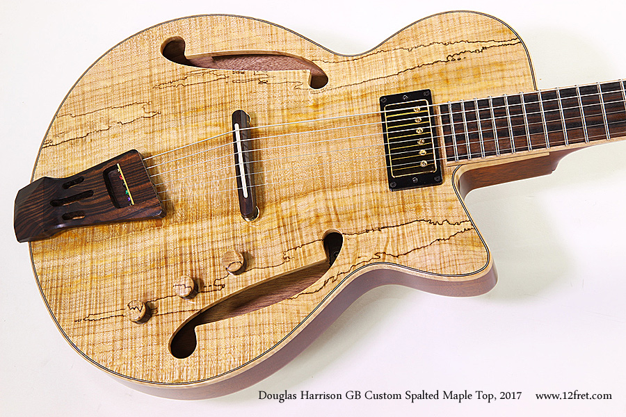 Douglas Harrison GB Custom Spalted Maple Top, 2017 Top View