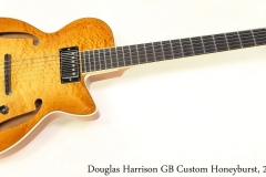 Douglas Harrison GB Custom Honeyburst, 2015 Full Rear View