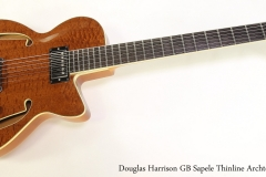 Douglas Harrison GB Sapele Thinline Archtop, 2013  Full Front View