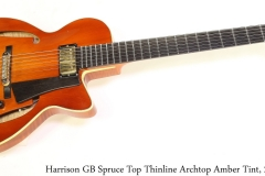 Harrison GB Spruce Top Thinline Archtop Amber Tint, 2007 Full Front View