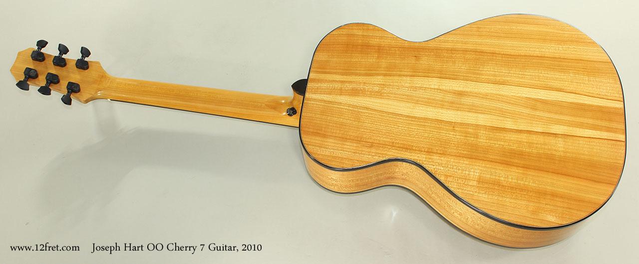 Joseph Hart OO Cherry 7 Guitar, 2010 Full Rear View