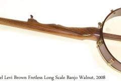 Hartel Levi Brown Fretless Long Scale Banjo Walnut, 2008 Full Rear View