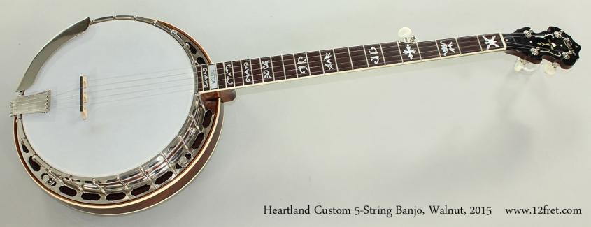 Heartland Custom 5-String Banjo, Walnut, 2015 Full Front View