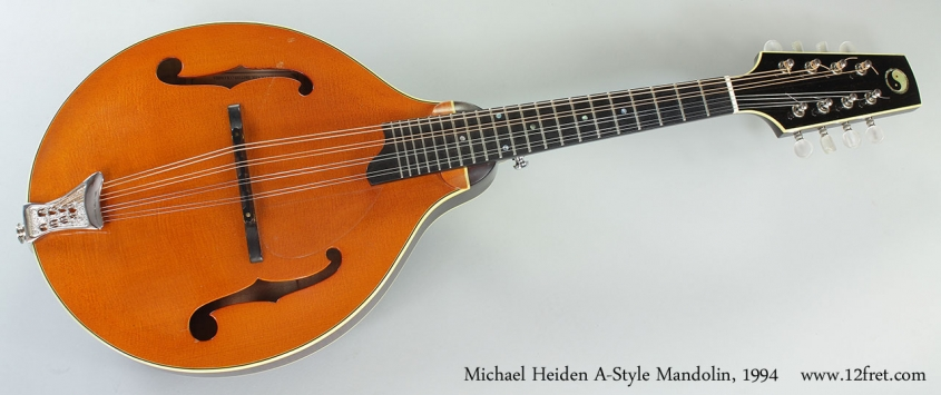 Michael Heiden A-Style Mandolin, 1994 Full Front View