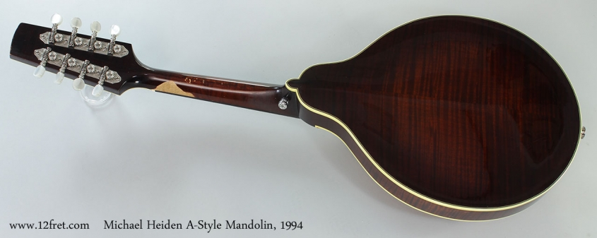 Michael Heiden A-Style Mandolin, 1994 Full Rear View