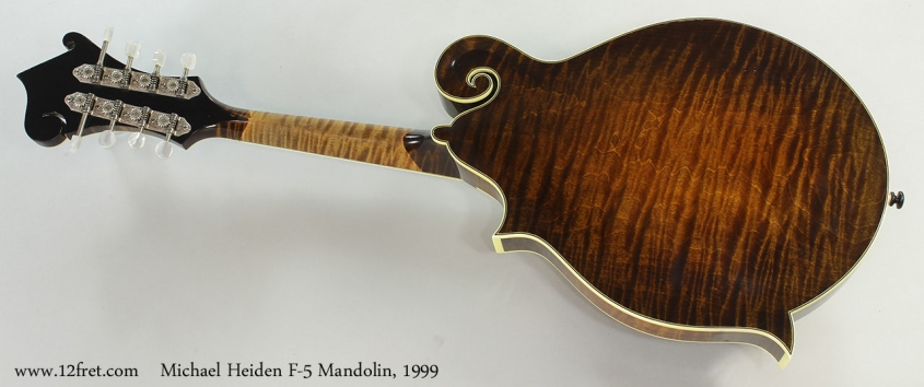 Michael Heiden F-5 Mandolin, 1999 Full Rear View