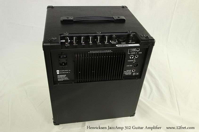 Henricksen JazzAmp 312 Guitar Amplifier Full Rear View