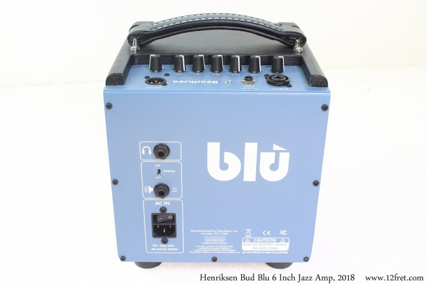 Henriksen Bud Blu 6 Inch Jazz Amp, 2018 Full Rear View
