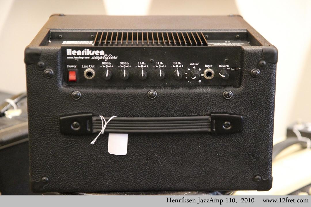 Henriksen JazzAmp 110,  2010  Controls View