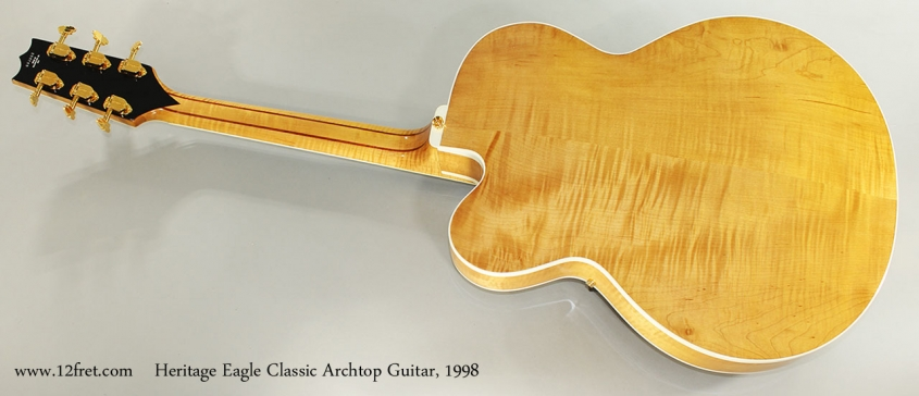 Heritage Eagle Classic Archtop Guitar, 1998 Full Rear Viewe-eagle-classic-archtop-1998-cons-full-rear