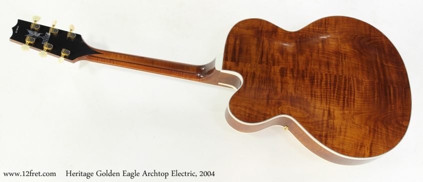 Heritage Golden Eagle Archtop Electric, 2004   Full Rear View