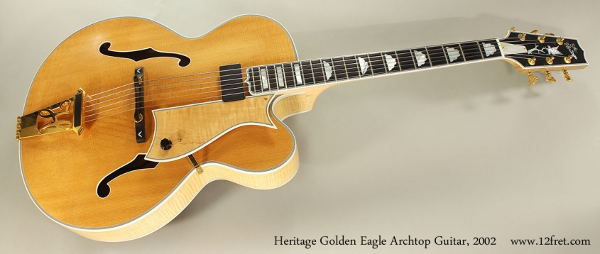 Heritage Golden Eagle Archtop Guitar, 2002 Full Front View