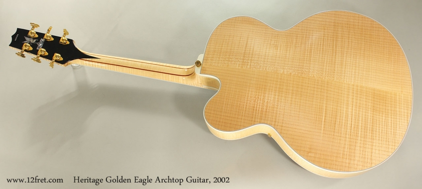 Heritage Golden Eagle Archtop Guitar, 2002 Full Rear View