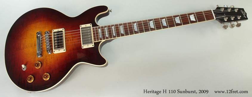 Heritage H 110 Sunburst, 2009 Full Front VIew