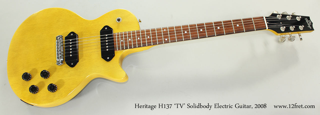 Heritage H137 'TV' Solidbody Electric Guitar, 2008 Full Front View