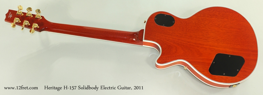 Heritage H-157 Solidbody Electric Guitar, 2011 Full Rear View