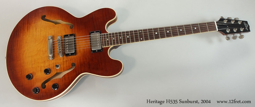 Heritage H535 Sunburst Thinline Archtop Electric, 2004 Full Front View