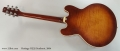 Heritage H535 Sunburst Thinline Archtop Electric, 2004 Full Rear View