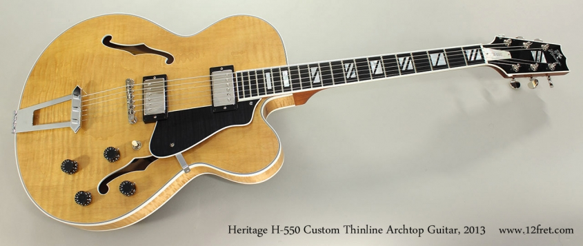 Heritage H-550 Custom Thinline Archtop Guitar, 2013 Full Front View