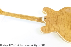 Heritage H555 Thinline Maple Antique, 1989 Full Rear View
