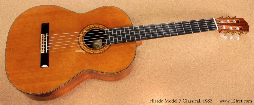 Hirade Master Arte Model 7 Classical 1982 full front view