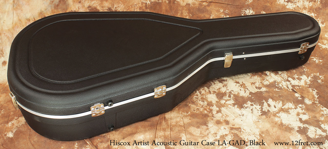 Hiscox Artist GAD Acoustic Guitar Cases Black Closed Hinge View
