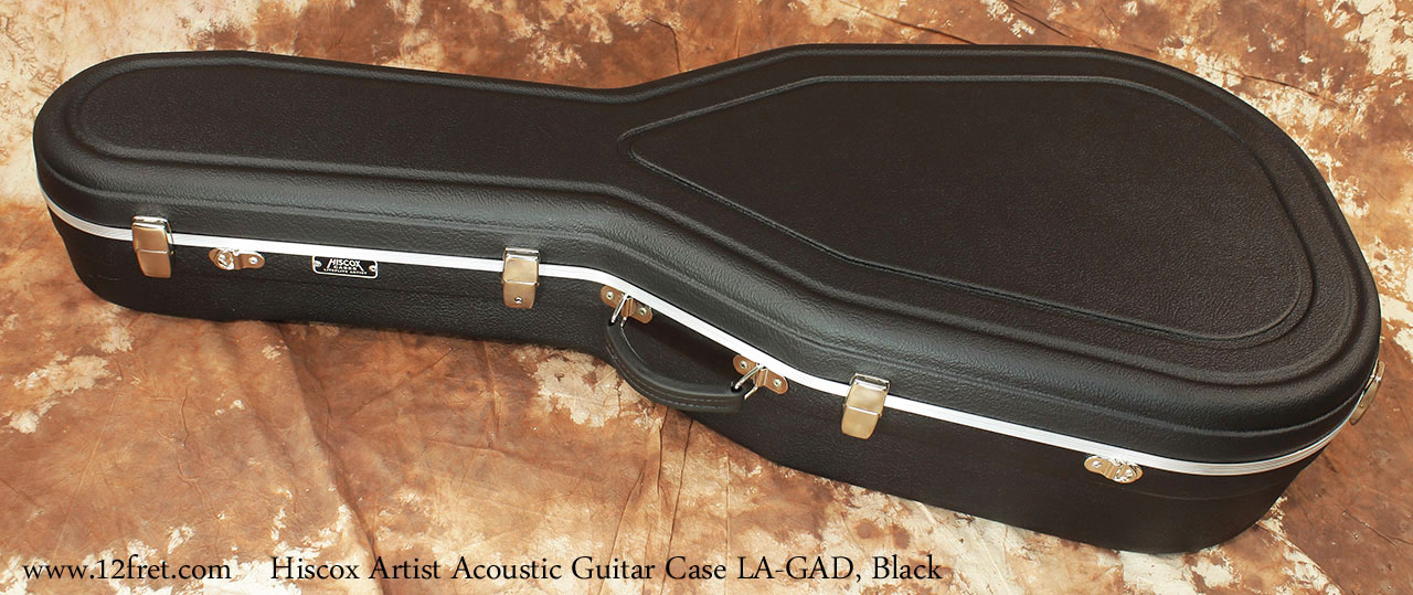 Hiscox Artist GAD Acoustic Guitar Cases Black Fully Closed View