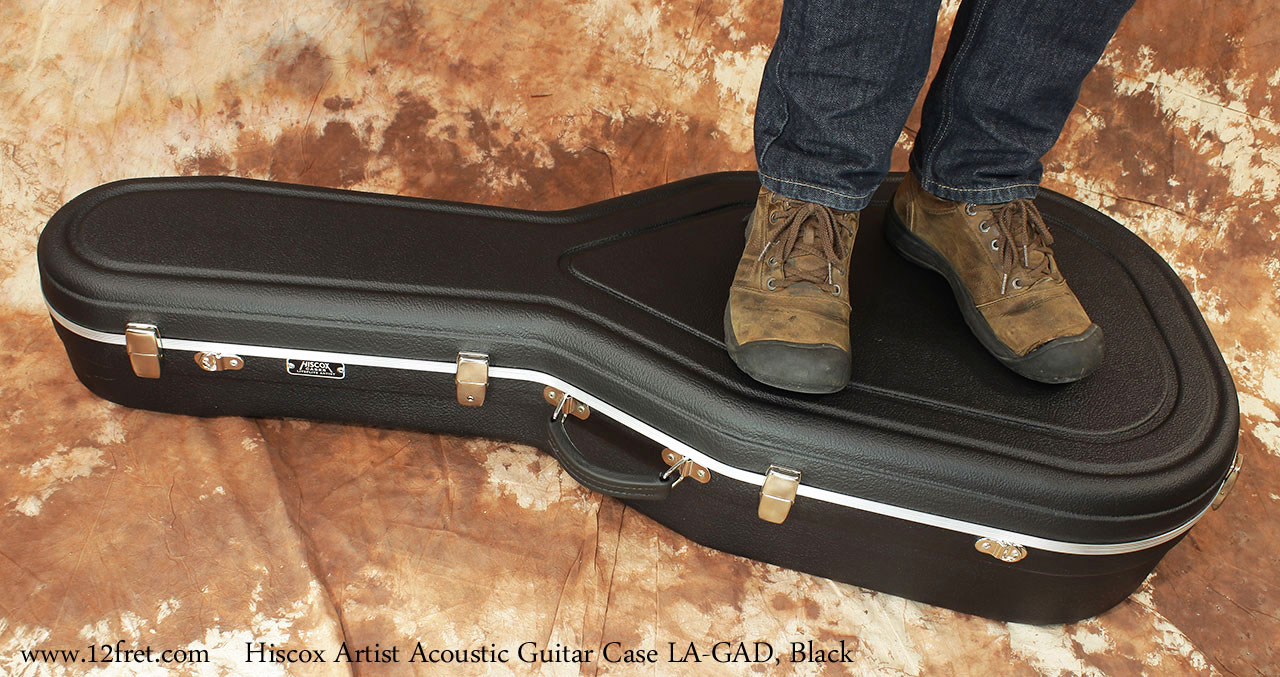 Hiscox Artist GAD Acoustic Guitar Cases Black Fully Loaded View