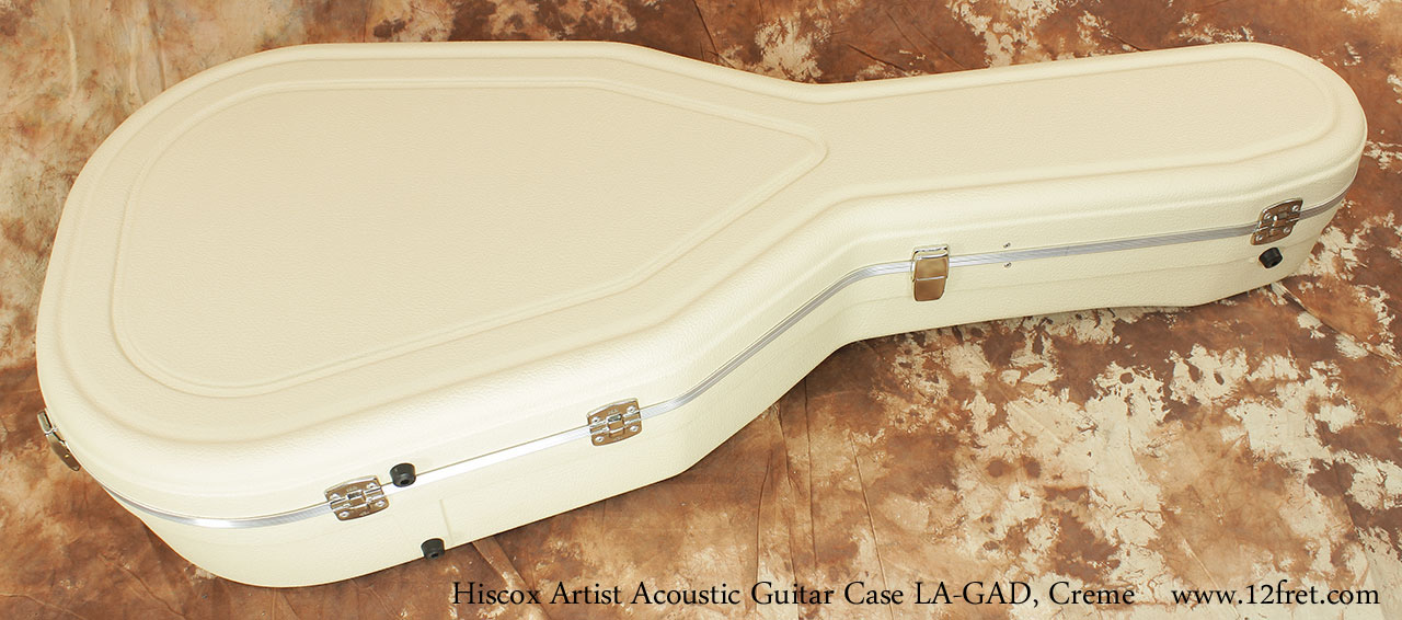 Hiscox Artist Acoustic GAD Guitar Cases Creme Closed Hinge View