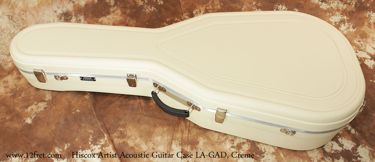Hiscox Artist Acoustic GAD Guitar Cases Creme Closed Top View