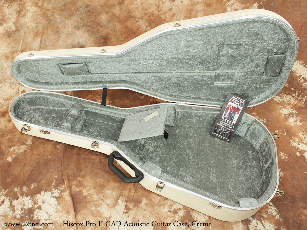 Hiscox Pro II GAD Acoustic Guitar Cases Fully Open View
