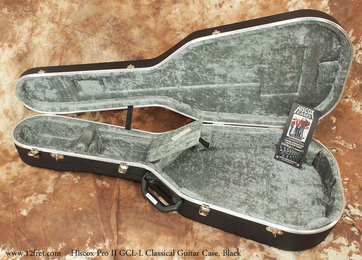 Hiscox Pro II GCL Classical Guitar Cases Closed Open View