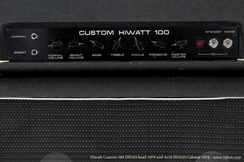 Hiwatt Custom 100 head 1970 with se4123 Cabinet 1979 controls