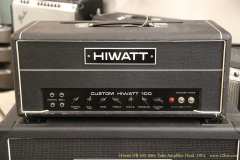 Hiwatt DR-103 100w Tube Amplifier Head, 1974  Full Front View