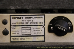Hiwatt DR-103 100w Tube Amplifier Head, 1974  Number Plate View