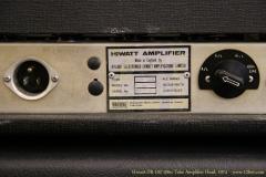 Hiwatt DR-103 100w Tube Amplifier Head, 1974  Rear Panel View