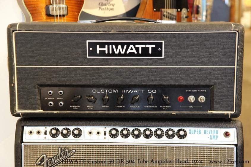 HIWATT Custom 50 DR-504 Tube Amplifier Head, 1974   Full Front View