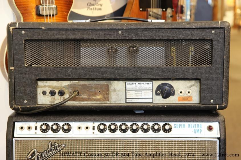 HIWATT Custom 50 DR-504 Tube Amplifier Head, 1974   Full Rear View