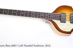 Hofner 1961 Cavern Bass 500/1 Left Handed Sunburst, 2015  Full Front View