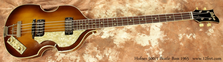 Hofner 500/1 Beatle Bass 1965 full front view