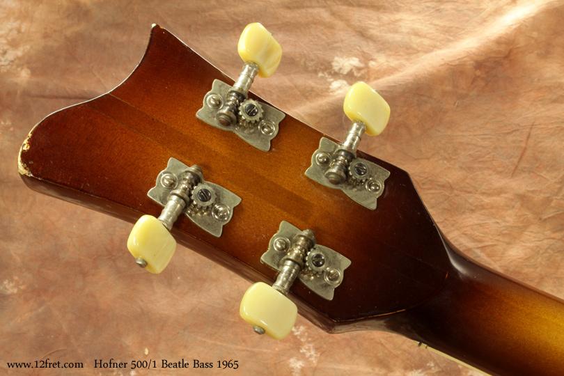 Hofner 500/1 Beatle Bass 1965 head rear view