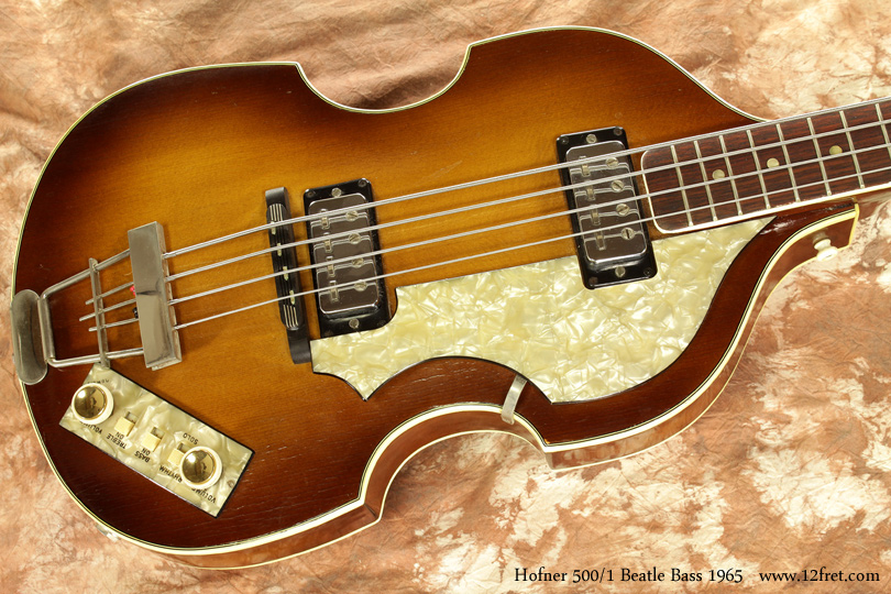 Hofner 500/1 Beatle Bass 1965 top