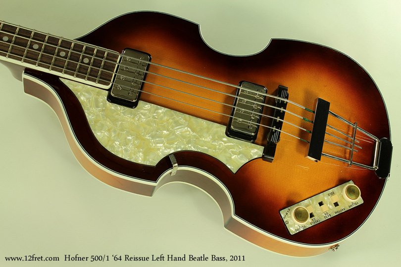 Hofner 500/1 1964 Reissue Left Hand Beatle Bass 2011 top