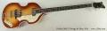 Hofner 500/1 Vintage 64 Bass, 2014 Full Front View