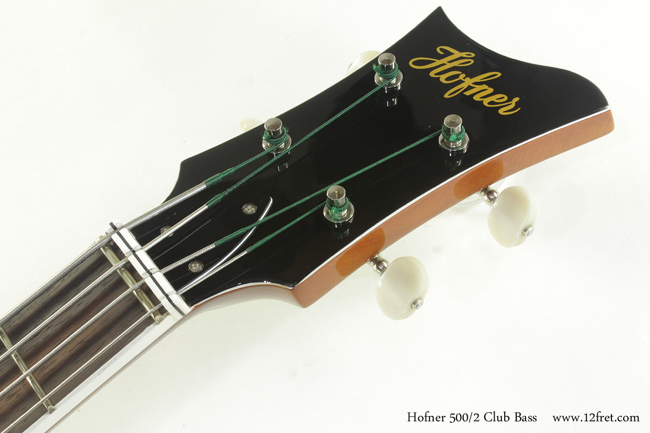 Hofner 500/2 Club Bass head front