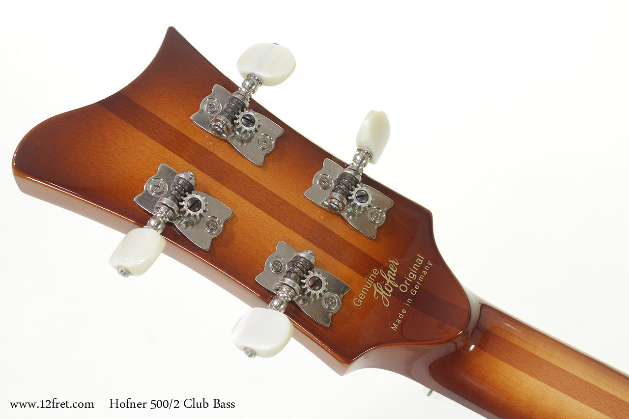 Hofner 500/2 Club Bass head rear