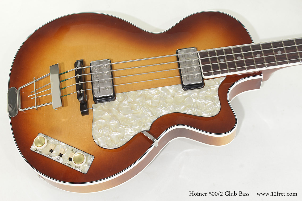 Hofner 500/2 Club Bass top