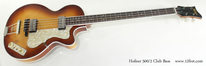 Hofner 500/2 Club Bass full front view